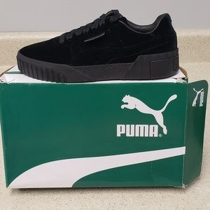 PUMA Cali Black Velvet Sneakers